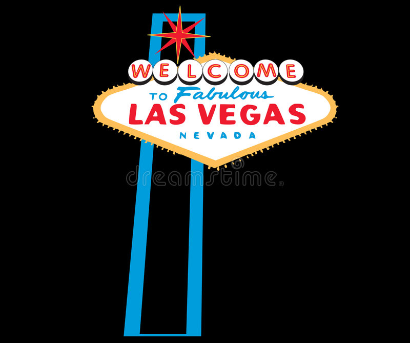 Las- Vegaswillkommenes Zeichen lizenzfreie abbildung