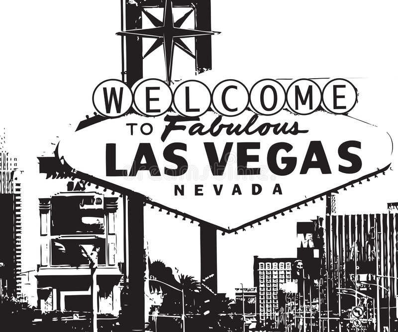 Las- Vegaswillkommenes Zeichen