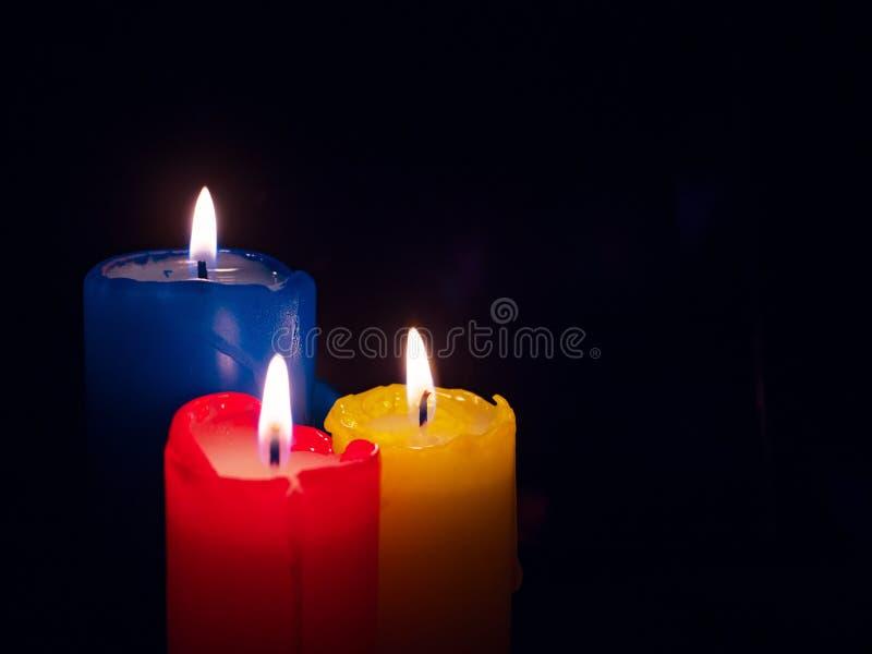 Las velas colorearon fotos de archivo libres de regalías