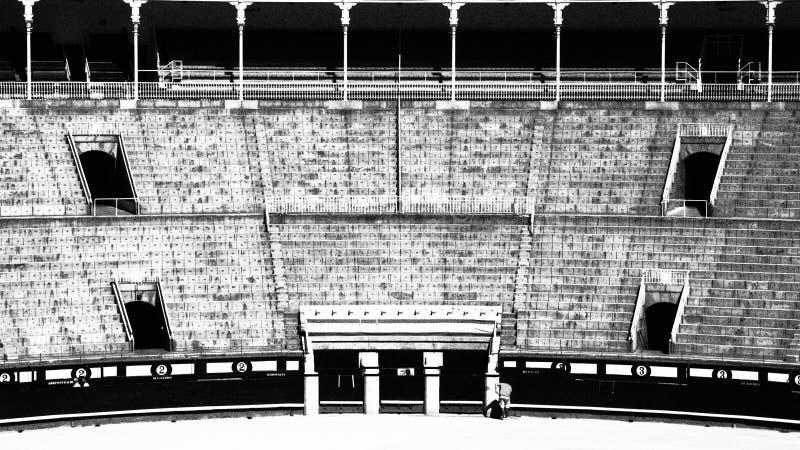 Las Ventas (B&W) stockbilder
