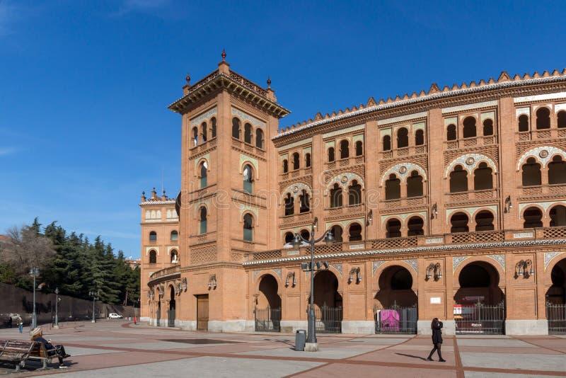 Las Ventas Bullring Plaza de Toros de Las Ventas en la ciudad de Madrid, España fotografía de archivo libre de regalías