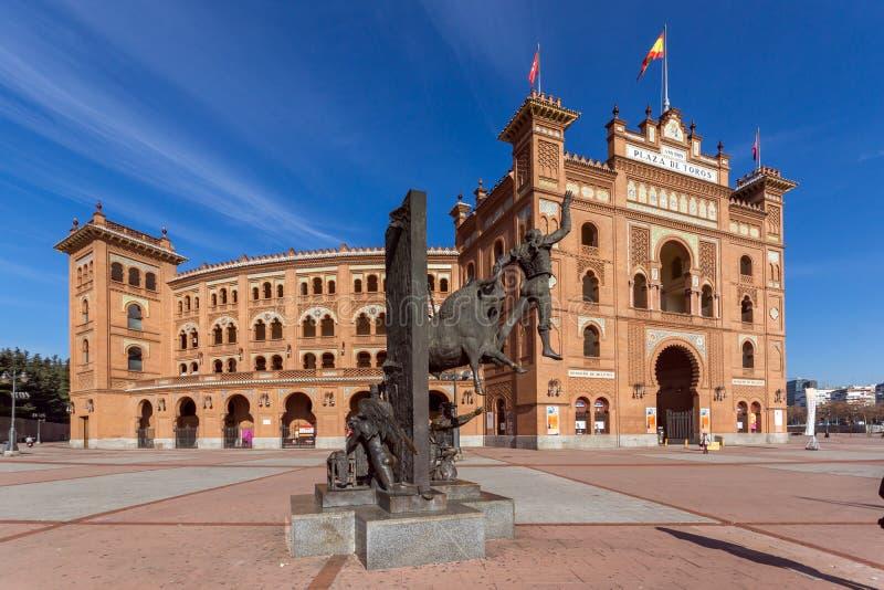 Las Ventas Bullring Plaza de Toros de Las Ventas situato alla plaza de torros in città di Madri immagine stock
