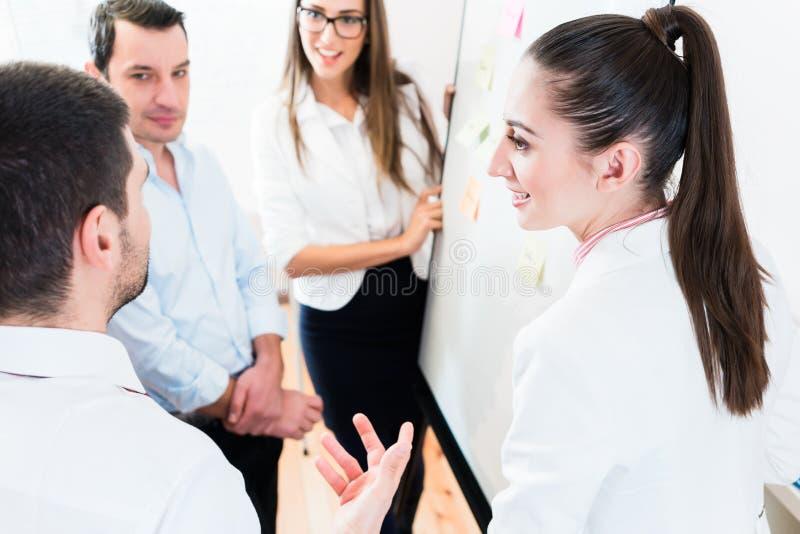 Las ventas combinan en la reunión de negocios en el planeamiento de la oficina foto de archivo libre de regalías