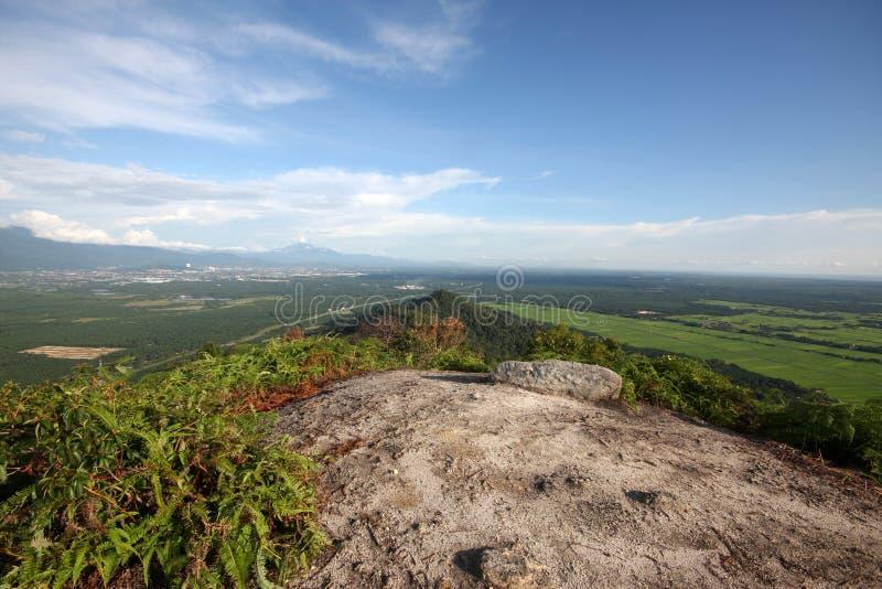 Las visiones desde el pico más alto de Semanggol del soporte imágenes de archivo libres de regalías