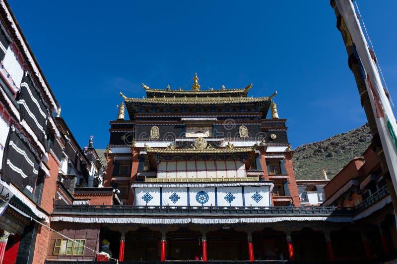lasa西藏瓷的喇嘛寺院 免版税库存图片