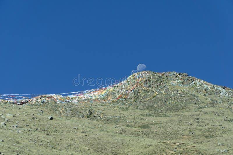 Lasa Tíbet anterior ahora China, monasterio de Ganden imagen de archivo libre de regalías