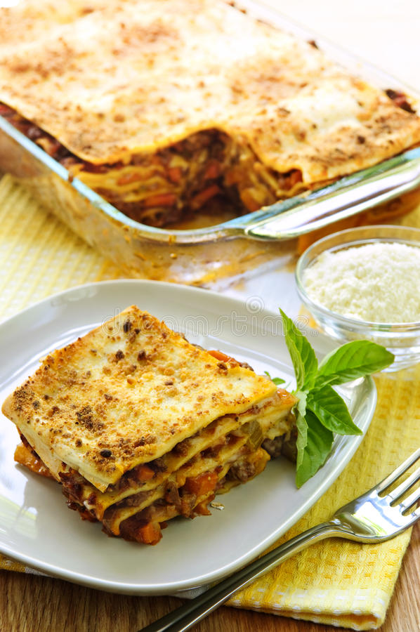 Download Lasagna stock image. Image of cook, cooking, layers, eating - 10635223