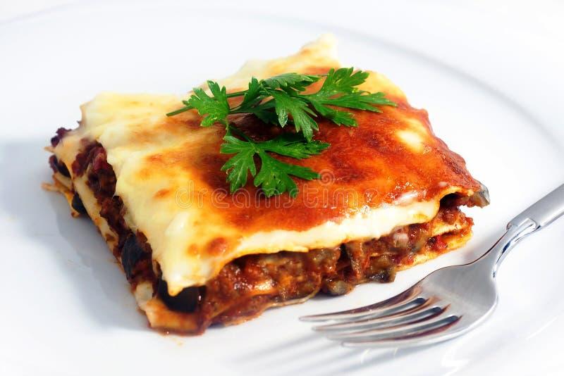 lasagna royaltyfri bild