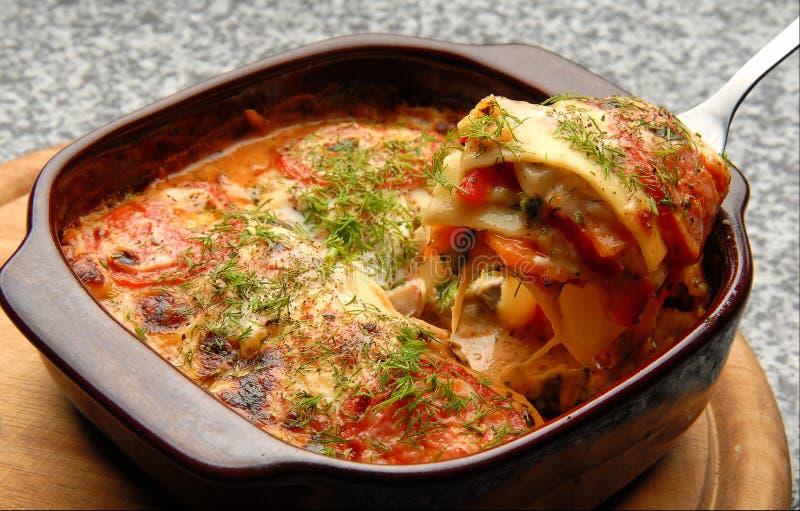 lasagna fotografia stock