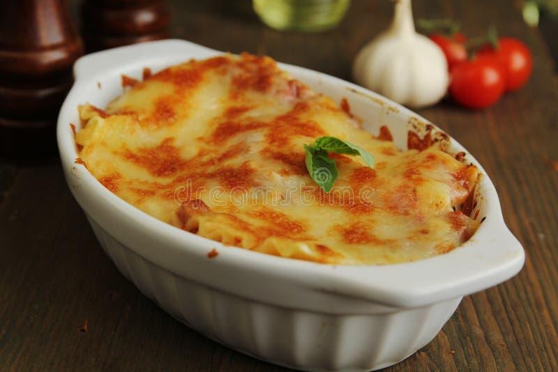 Download Lasagna stock image. Image of food, basil, baked, cuisine - 27887709