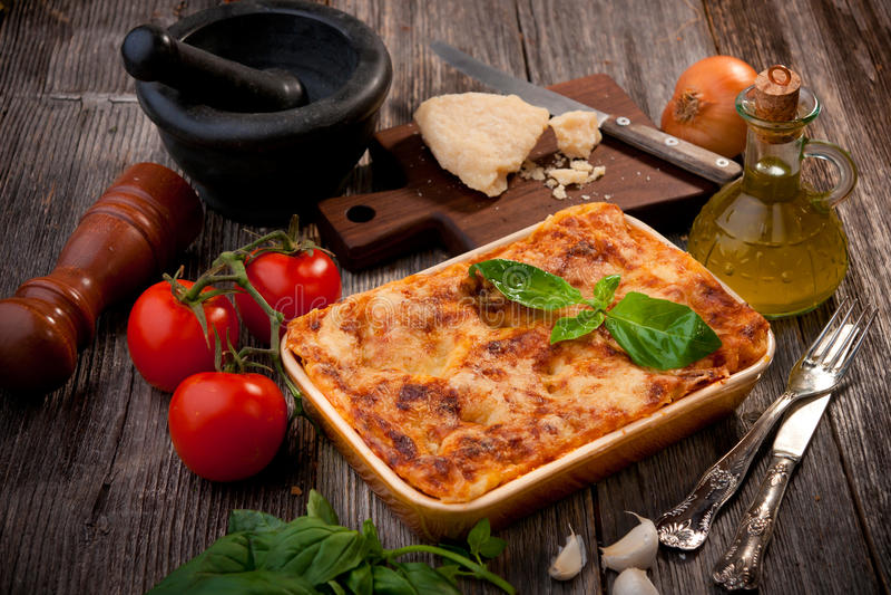 Lasagna zdjęcia stock