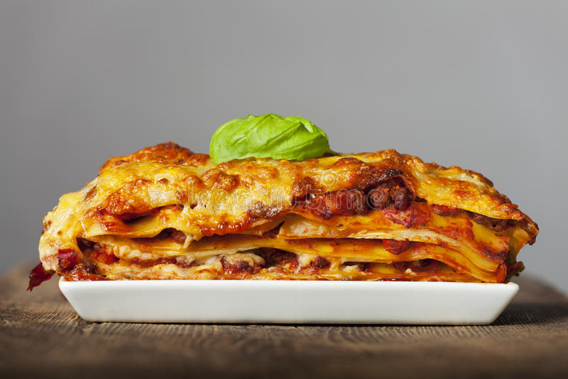 Lasagna fotografia royalty free