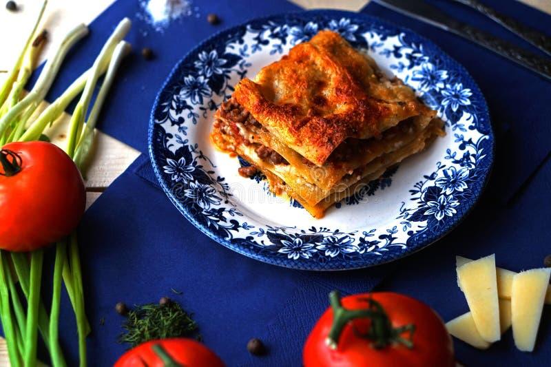 Lasagna zdjęcie stock