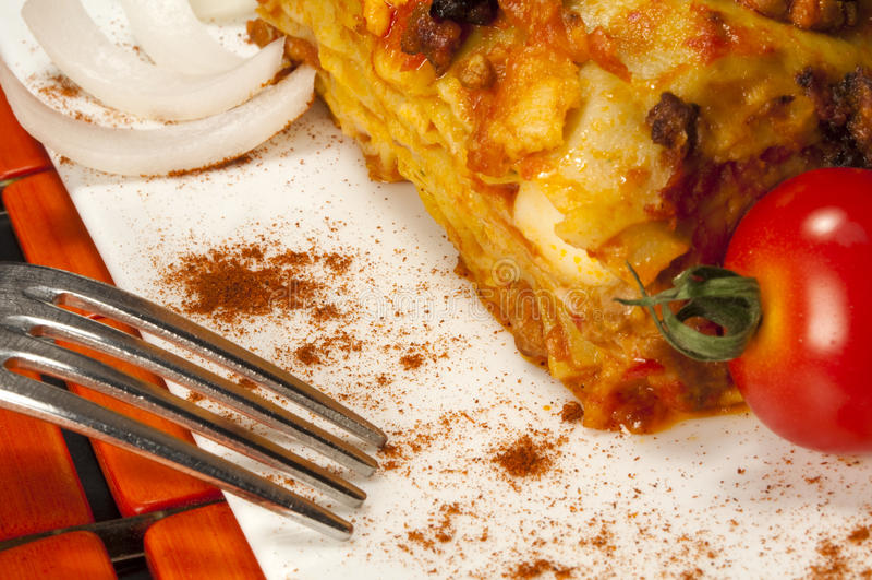 Lasagna Bologna Style stock photography