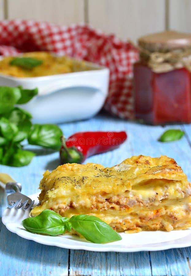 Lasagna bolognese fotografia stock