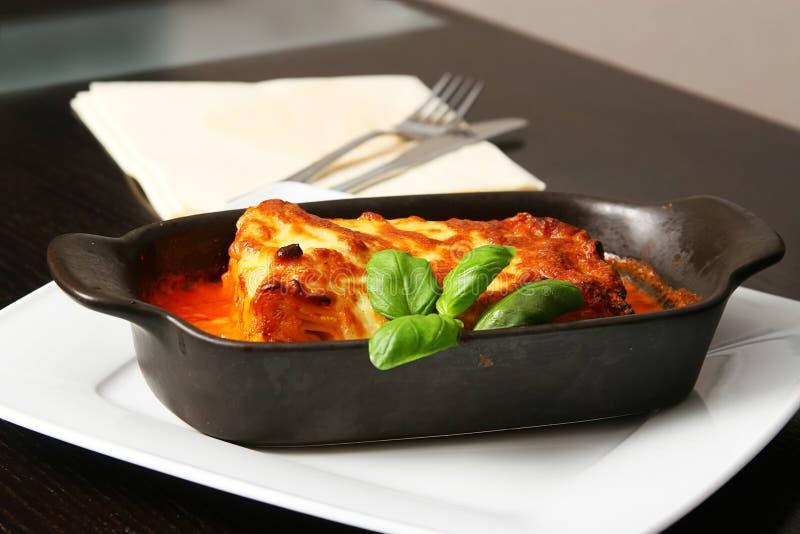 Lasagna bolognese fotografia stock libera da diritti