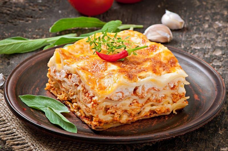 Lasagna clásico imagen de archivo