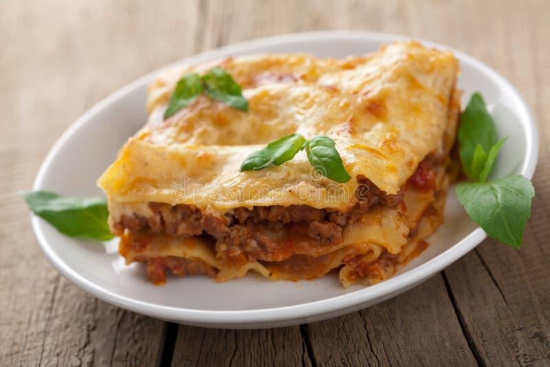 Lasagna clásico boloñés fotografía de archivo