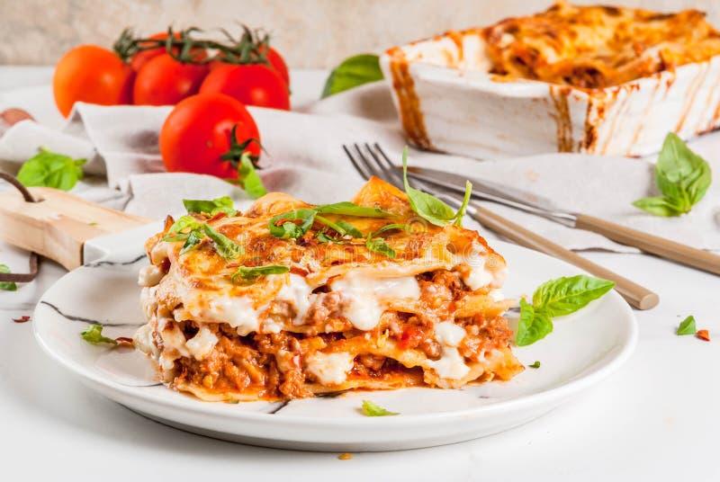 Lasagna classico bolognese fotografia stock libera da diritti