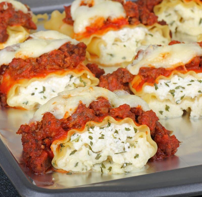 Lasagna cozido da salsicha foto de stock