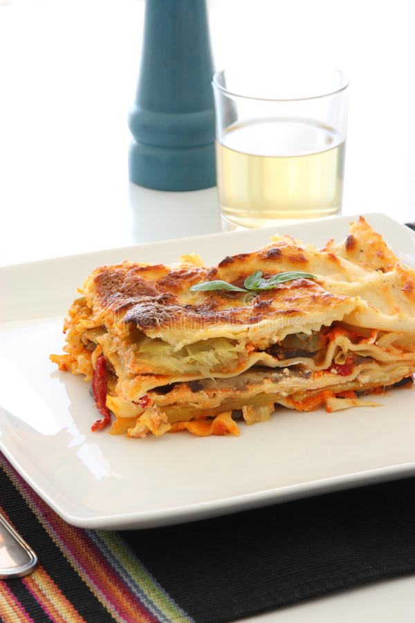 Lasagna do vegetariano imagem de stock