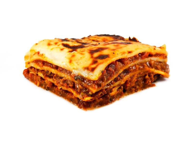 Lasagna e fritture tradizionali casalinghi immagine stock libera da diritti