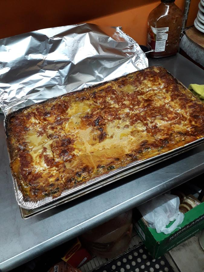 Lasagna obraz royalty free