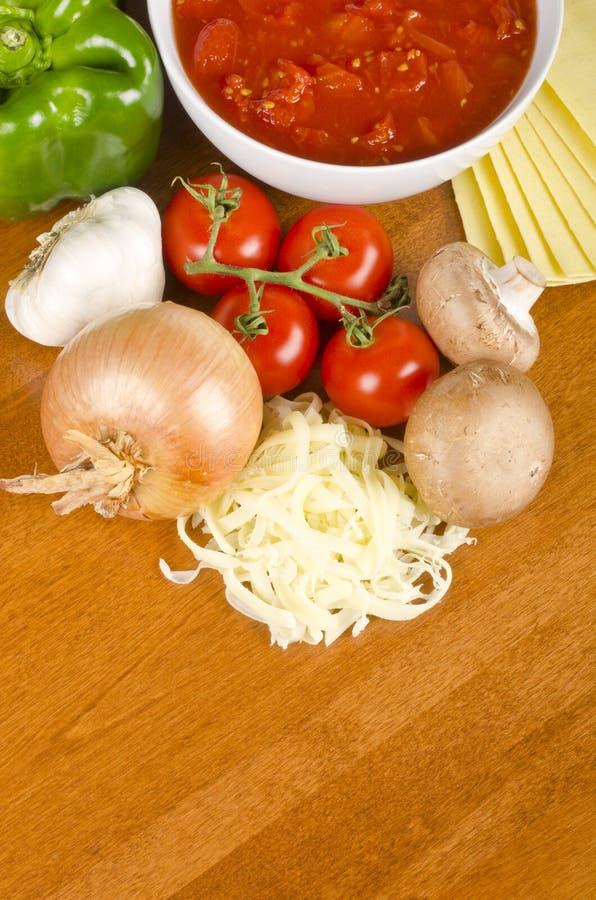Free Lasagna Ingredients 2 Royalty Free Stock Photo - 28001855