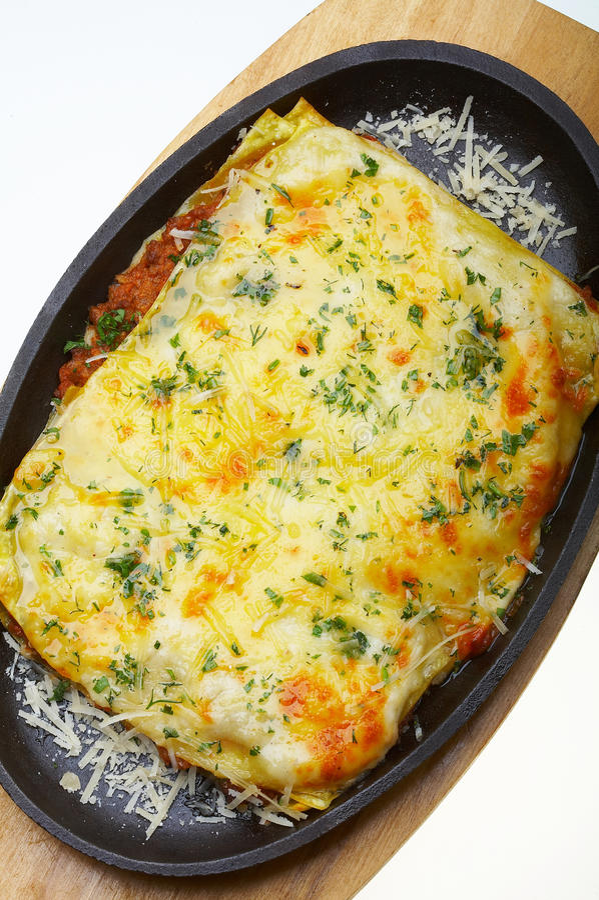 Lasagna italiano bolognese fotografia stock