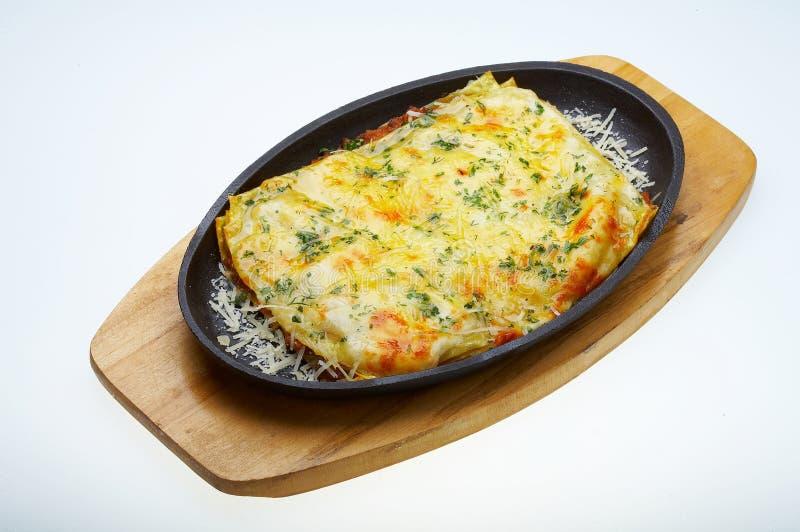 Lasagna italiano bolonhês foto de stock