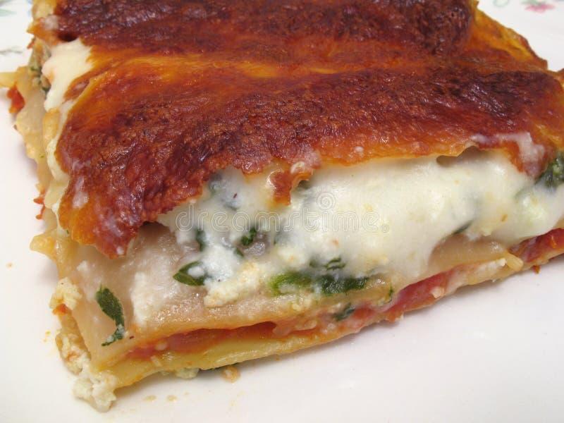 Lasagna llenado queso imágenes de archivo libres de regalías