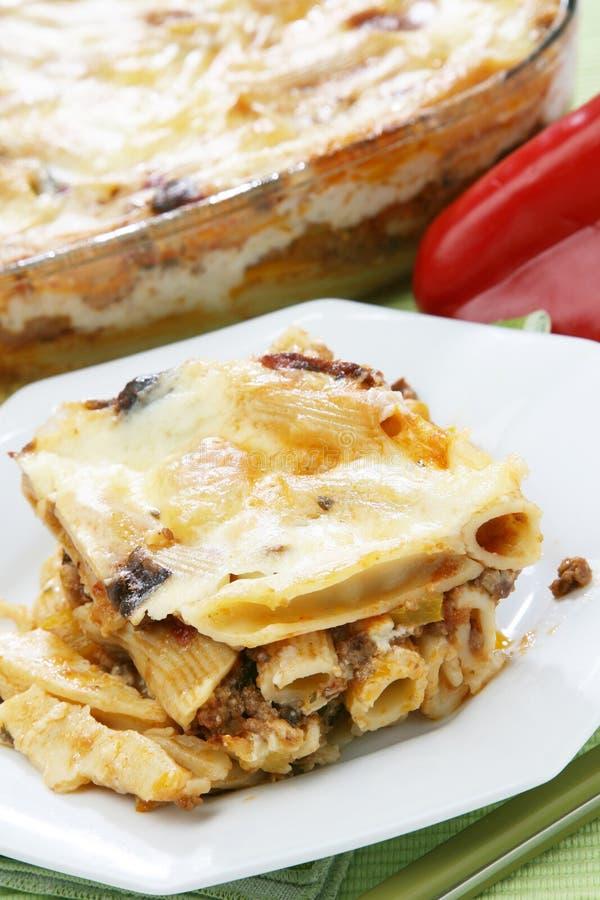 lasagna makaron zdjęcie stock
