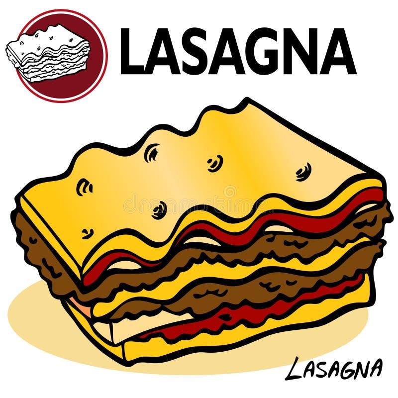 lasagna plasterek ilustracja wektor