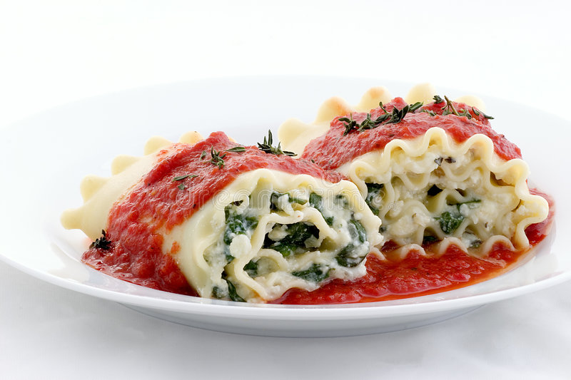 Lasagna rolls? why not stock image