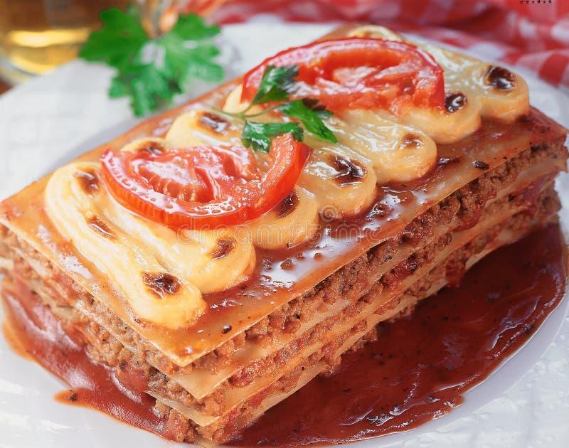 Lasagna's. stock afbeelding