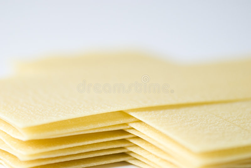 Lasagna Sheets stock photo