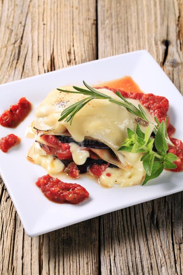 Lasagna vegetariano immagine stock libera da diritti