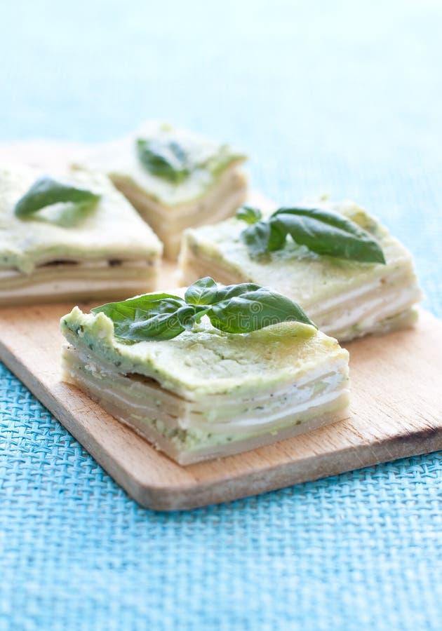 Lasagna vegetariano imagen de archivo