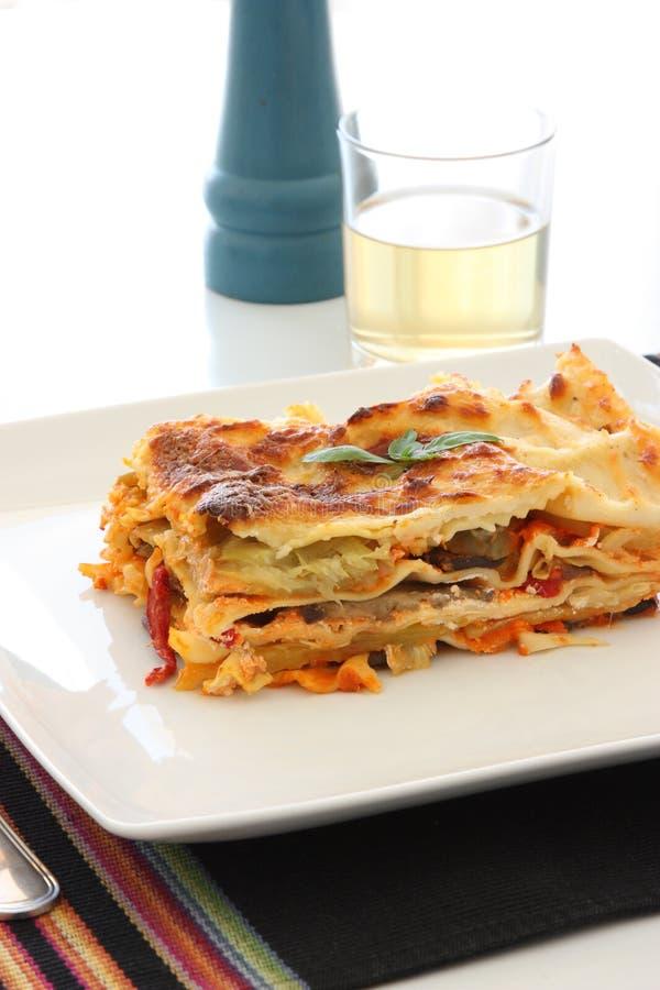 Lasagna vegetariano immagine stock