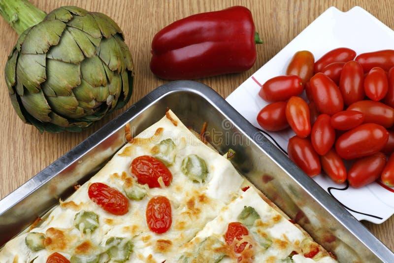 lasagnagrönsak royaltyfri bild
