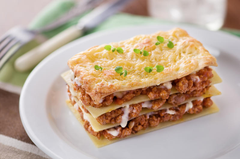 Lasagne, images stock
