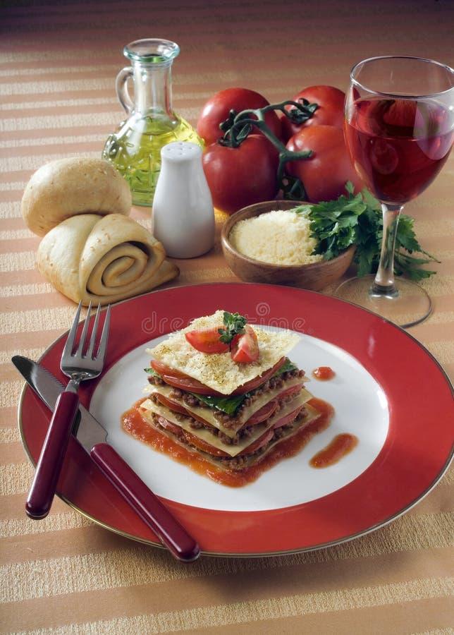 Lasagne stockfotos