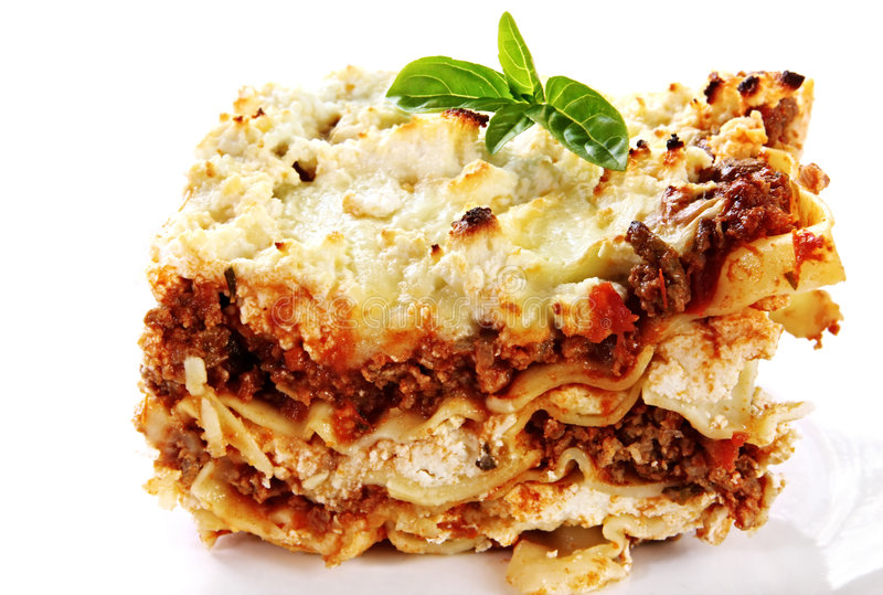 lasagne obrazy royalty free