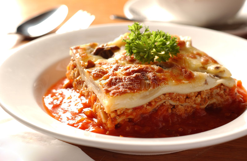 lasagne obrazy royalty free