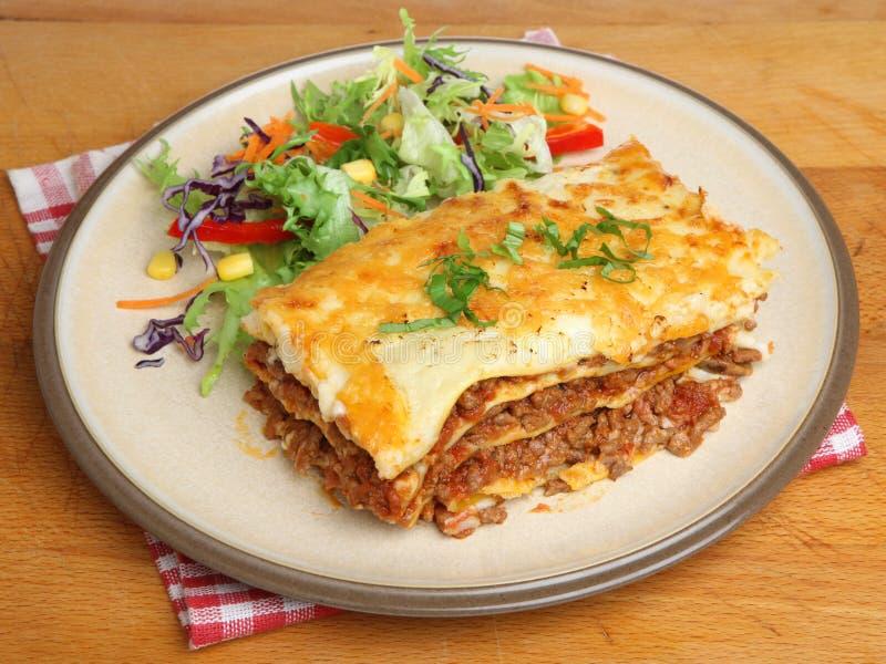 Lasagne al forno Al Forno Dinner fotografie stock