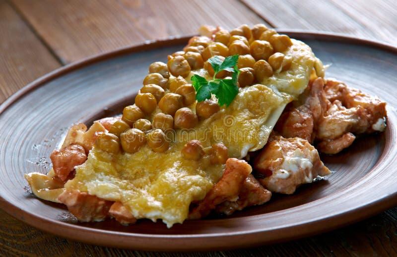 Lasagne algérien chaud images stock
