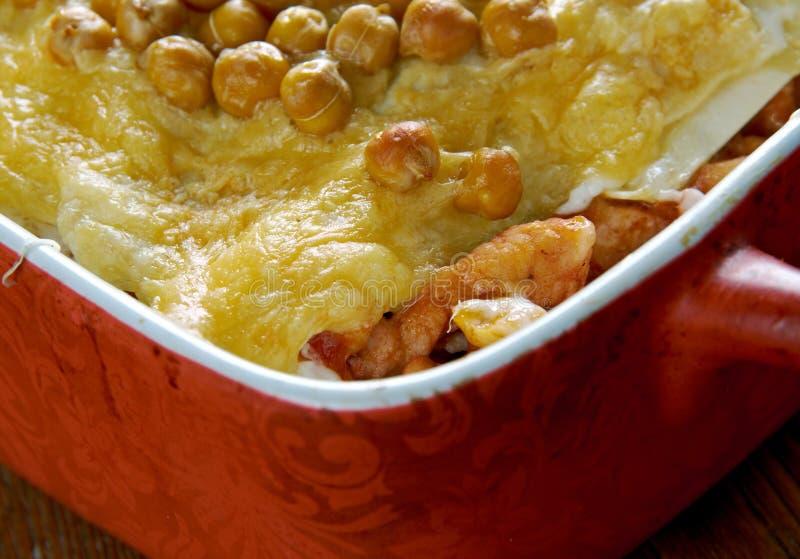 Lasagne algérien chaud photo stock