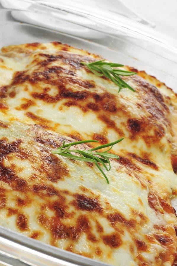 Lasagne au gratin zdjęcia stock