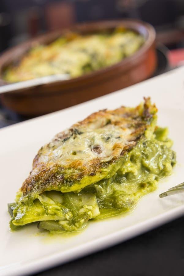 Lasagne avec des légumes image libre de droits