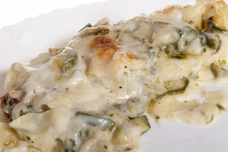 Lasagne avec la courgette photographie stock libre de droits